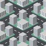 Vlakke 3D stad Stock Afbeelding
