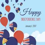 Vlakke de Groetkaart van de onafhankelijkheidsdag stock illustratie