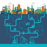 Vlakke de industrieachtergrond Royalty-vrije Stock Afbeelding