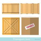 Vlakke dozen voor vervoersreeks Stock Afbeeldingen