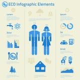 Vlakke ecologische infographics van ontwerp menselijke kwesties Stock Afbeelding