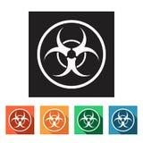 Vlakke eenvoudige pictogrammen (biohazard, gevaarlijk), royalty-vrije illustratie