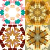 Vlakke etnische naadloze patronen Royalty-vrije Stock Afbeeldingen