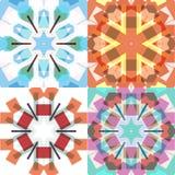 Vlakke etnische naadloze patronen Stock Afbeelding
