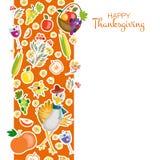 Vlakke Gelukkige Thanksgiving dayachtergrond van de ontwerpstijl Royalty-vrije Stock Fotografie