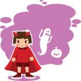 Vlakke Halloween-IMP Royalty-vrije Stock Afbeelding