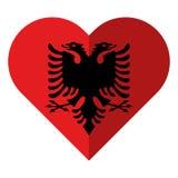 Vlakke het hartvlag van Albanië royalty-vrije illustratie