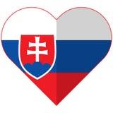 Vlakke het hartvlag van Slowakije Royalty-vrije Stock Foto's