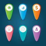 Vlakke het Malplaatje en het Webelementenzaken van Infographics, Computer, Marketing Concept Royalty-vrije Stock Foto's