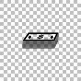 Vlakke het pictogram van het bundelgeld royalty-vrije illustratie