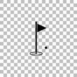 Vlakke het pictogram van de golfvlag royalty-vrije illustratie
