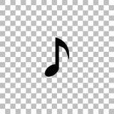Vlakke het pictogram van de muzieknota stock illustratie