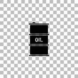 Vlakke het pictogram van de vatolie stock illustratie