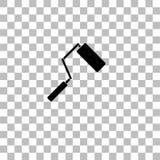 Vlakke het pictogram van de verfrol stock illustratie