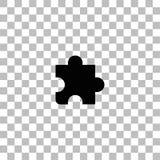 Vlakke het pictogram van het raadselstuk stock illustratie
