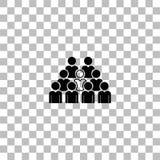 Vlakke het pictogram van het teamlood vector illustratie