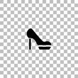Vlakke het pictogram van vrouwenschoenen stock afbeeldingen