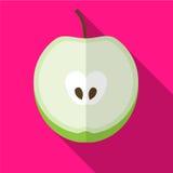 Vlakke het pictogramillustratie van Apple stock illustratie