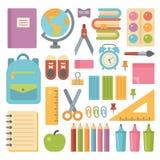 Vlakke het pictogramreeks van schoolpunten royalty-vrije illustratie