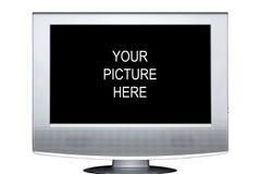 Vlakke het scherm stereoTelevisie Stock Afbeeldingen
