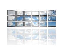 Vlakke het schermtv's Royalty-vrije Stock Afbeeldingen