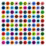 Vlakke hexagon het Webknoop van het pijlpictogram Royalty-vrije Stock Fotografie