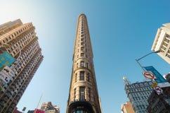 Vlakke Ijzer de bouwvoorgevel, New York, de V.S. Royalty-vrije Stock Afbeeldingen
