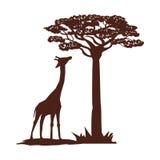Vlakke illustratie over het ontwerp van Afrika Stock Foto