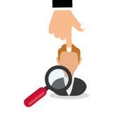 Vlakke illustratie over Personeel Stock Foto's