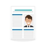 Vlakke illustratie over Personeel Royalty-vrije Stock Afbeeldingen