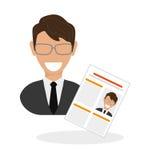 Vlakke illustratie over Personeel Stock Fotografie