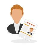 Vlakke illustratie over Personeel Royalty-vrije Stock Foto's