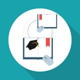 Vlakke illustratie over technologieontwerp Stock Foto