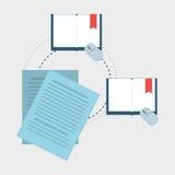 Vlakke illustratie over technologieontwerp Royalty-vrije Stock Afbeelding