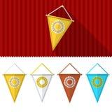 Vlakke illustratie van driehoekige wimpels Royalty-vrije Stock Afbeelding