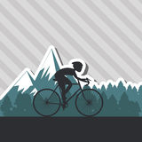 Vlakke illustratie van fiets lifesyle ontwerp, edita Stock Afbeelding