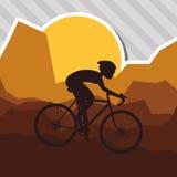 Vlakke illustratie van fiets lifesyle ontwerp, edita Stock Afbeeldingen