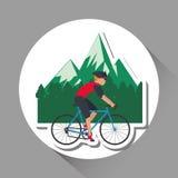 Vlakke illustratie van fiets lifesyle ontwerp, edita Royalty-vrije Stock Afbeeldingen