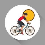 Vlakke illustratie van fiets lifesyle ontwerp, edita Stock Fotografie