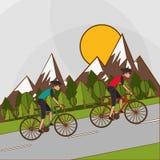 Vlakke illustratie van fiets lifesyle ontwerp, edita Stock Foto