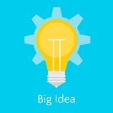 Vlakke illustratie van Groot Idee Stock Afbeeldingen