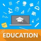 Vlakke illustratie van onderwijs Stock Foto's