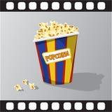 Vlakke illustratie van popcorn Stock Afbeelding