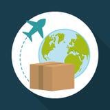 Vlakke illustratie van vrij leveringsontwerp, editable vector Stock Fotografie