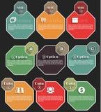 Vlakke infographics lange schaduw Stock Afbeeldingen