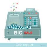 Vlakke kasregister grote verkoop Stock Afbeeldingen