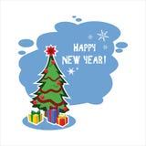 Vlakke Kerstmisboom Stock Fotografie