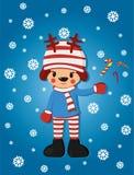 Vlakke Kerstmisherten Stock Afbeelding