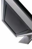 Vlakke LCD geïsoleerder televisie stock afbeeldingen