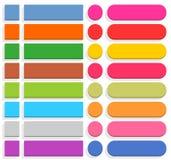 Vlakke lege het pictogramreeks van Internet van de Webknoop Stock Afbeeldingen